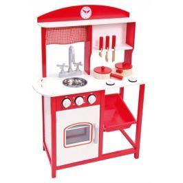 BINO Dětská kuchyňka s příslušenstvím červená