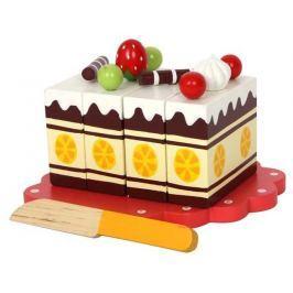 Dřevěný narozeninový krájecí dort