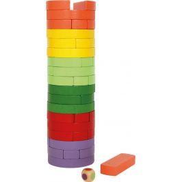Dřevěná věž Wobbling barevná