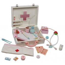 Dřevěná hračka - Dětský dřevěný doktorský kufřík Isabel