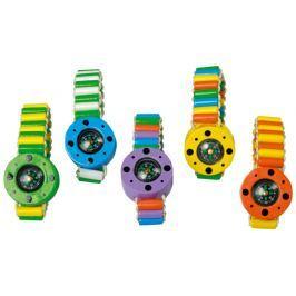 Dřevěný barevný náramek - kompas