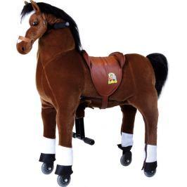 Pohyblivý dětský jezdecký kůň na kolečkách Blesk