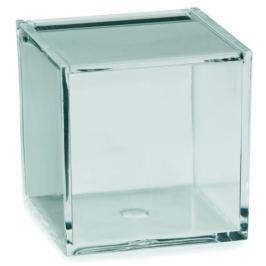 KELA Kosmetická dóza SAFIRA plast, transparent, 8x8x8cm