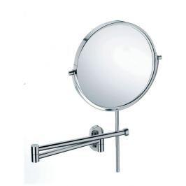 KELA Zrcadlo LUCIDO ušlechtilá ocel, 3x zvětšovací 23,5-42cmx35,5cm, O19cm