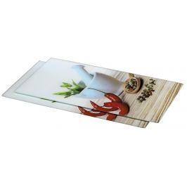 Xavax skleněné kuchyňské prkénko Spice, 52 x 30 cm, set 2 ks