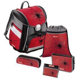 Step by Step Školní aktovka - 5-dílný set,  Červený pavouk, certifikát AGR