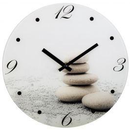 Hama nástěnné hodiny Stones, tichý chod, skleněné