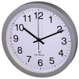 Hama nástěnné hodiny PG-300, řízené rádiovým signálem, tichý chod, šedé