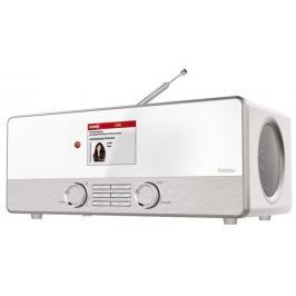 Hama digitální rádio DIR3110, DAB+, internetové rádio, FM/A/M, bílé