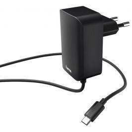 Hama síťová nabíječka s kabelem, micro USB, 2,4 A, černá