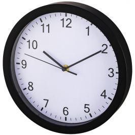Hama Pure nástěnné hodiny, průměr 25 cm, tichý chod, černé