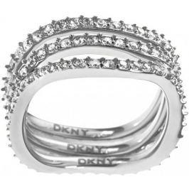 DKNY Trojitý prsten s krystaly NJ1919040, 56 mm