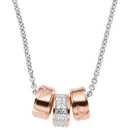 Emporio Armani Stříbrný náhrdelník s bronzovými přívěsky EG3045040 Náhrdelníky
