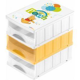 Keeeper Boxy na hračky - sada 3 šuplíků MEDVÍDEK PÚ