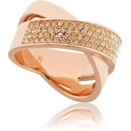Michael Kors Pozlacený ocelový prsten s krystaly MKJ2869791, 54 mm Prsteny