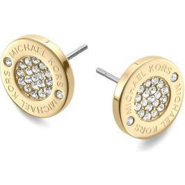 Michael Kors Pozlacené luxusní náušnice s krystaly MKJ3351710 Náušnice