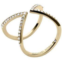 Michael Kors Otevřený pozlacený prsten s krystaly MKJ3749710, 54 mm Prsteny