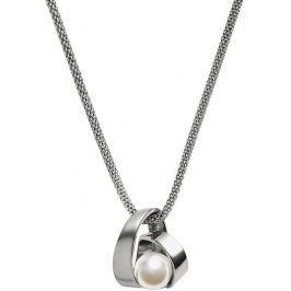 Skagen Dámský ocelový náhrdelník s perlou SKJ0749040