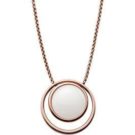 Skagen Dámský ocelový náhrdelník v bronzové barvě SKJ0821791