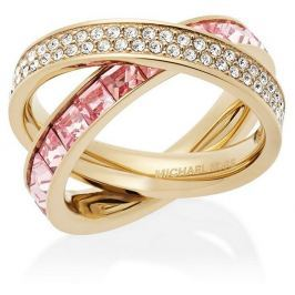 Michael Kors Dvojitý pozlacený prsten s krystaly MKJ5419710, 54 mm