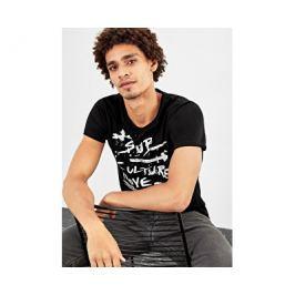 Q/S designed by s.Oliver Pánské černé bavlněné tričko, L