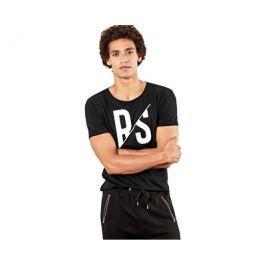 Q/S designed by s.Oliver Pánské triko černé s nápisy, S