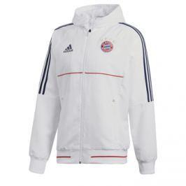 Adidas Pánská sportovní bunda  Pre Match FC Bayern Mnichov bílá, L