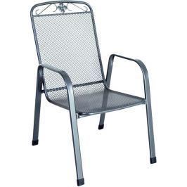 MWH Savoy stohovatelná židle z tahokovu, tmavě šedá 75 x 57 x 93 cm