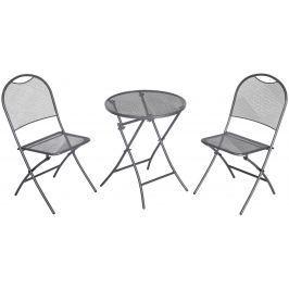MWH Café Latte balkonový set 2x židle (55 x 46 x 89 cm) + 1x kulatý stůl (pr. 60 cm)