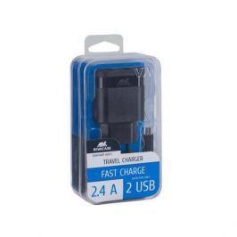 RIVACASE Nabíječka VA 4122 BD1, černá, 2 x USB,  2,4A, datový kabel micro USB,