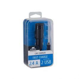 RIVACASE Nabíječka do auta VA 4222 BD1, černá, 2 x USB, 2,4A, datový kabel micro USB, R