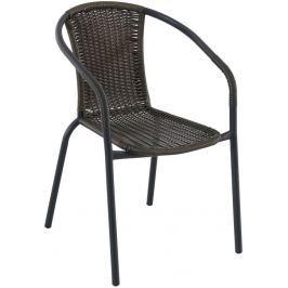 Creador Pikolo kovová stohovatelná židle s ratanem