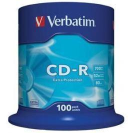 Verbatim Disk  CD-R 700MB/80min, 52x, Extra Protection, 100-cake