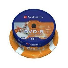 Verbatim Disk  Printable DVD-R 4.7GB, 16x, 25-cake