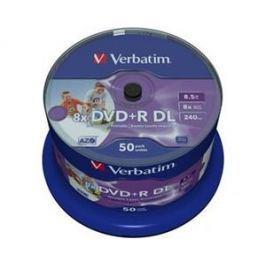 Verbatim DVD+R DL [ spindle 50   8.5GB   8x   printable Wide ]