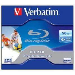 Verbatim BD-R Blu-Ray, DL, Printable, 50GB, 6x, , jewel box