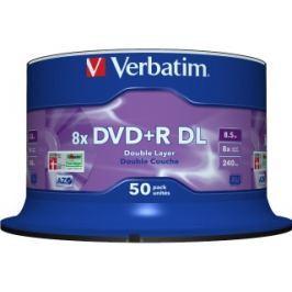 Verbatim DVD+R DL [ spindle 50   8.5GB   8x   matt silver surface ]