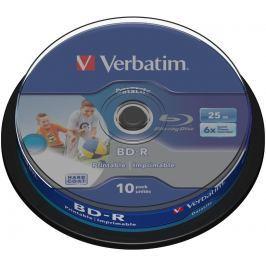 Verbatim Médium  BD-R 25GB 6x HTL WIDE PRINTABLE spindle 10pck/BAL
