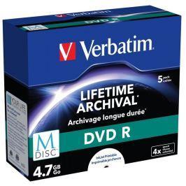 Verbatim M-DISC DVD-R 4,7GB/ 4x/ Inkjet Printable/ jewel/ 5pack