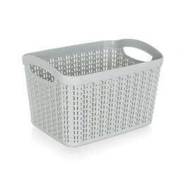 BRILANZ Košík ratanový 21 x 16 x 13,8 cm, 3,3 l, šedý