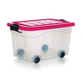 BRILANZ Box úložný na kolečkách PYRAMIDA 20 l, růžový