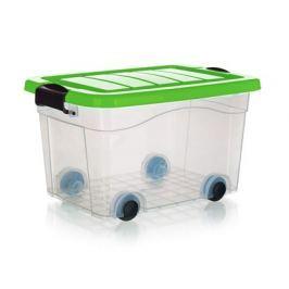 BRILANZ Box úložný na kolečkách PYRAMIDA 20 l, zelený