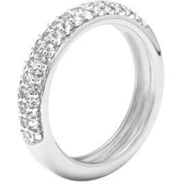 Fossil Stříbrný prsten s krystaly JFS00080040, 59 mm