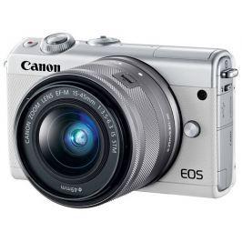 Canon Fotoaparát  EOS M100 + EF-M 15-45mm f/3.5-6.3 IS STM + IRISTA, bílý