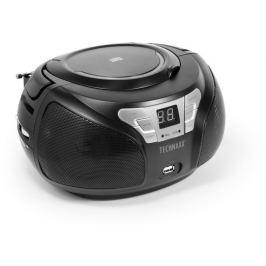 TECHNOSONIC Technaxx Boombox CD přehrávač, BT, FM, USB, černý
