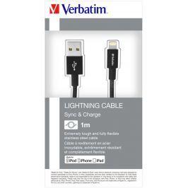 Verbatim Lightning kabel 1m S&CH černý