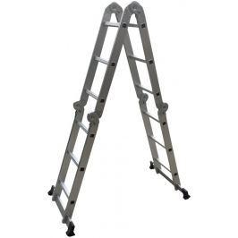 Rulyt Víceúčelový hliníkový žebřík 4x3, čtyřdílný, bez plošiny
