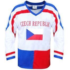 SportTeam Hokejový dres ČR 7, bílý, XL