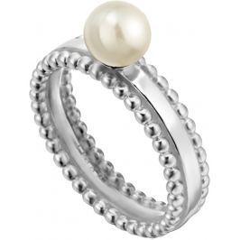 Esprit Stříbrný prsten se syntetickou perlou Powder ESRG002011, 54 mm