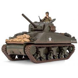Pelikan RC Tank - M4A3 Sherman 1:24, set 2.4GHz, zvuk. efekty, IR bojový systém
